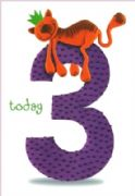 Top Cat Age 3 Birthday Card